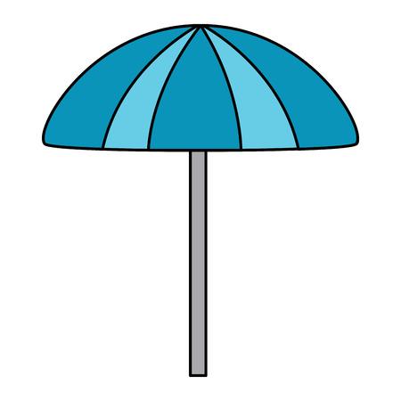 beach umbrella protection accessory symbol vector illustration Illustration