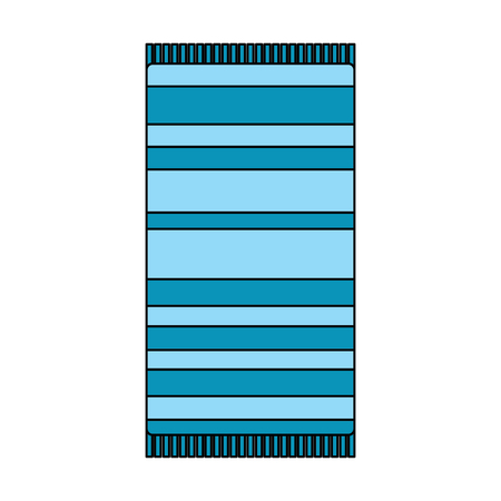 beach towel with stripes top view isolated on white background vector illustration