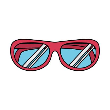 sunglasses beach accessory fashion icon vector illustration
