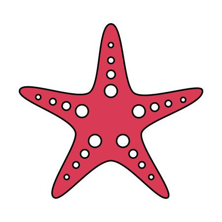 A starfish animal wildlife ocean tropical vector illustration Illusztráció