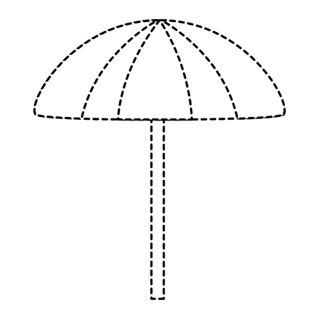 beach umbrella protection accessory symbol vector illustration 向量圖像