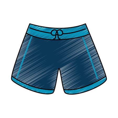 Immagine di disegno dell'illustrazione di vettore dei vestiti di modo del costume da bagno corto maschio Archivio Fotografico - 91504826