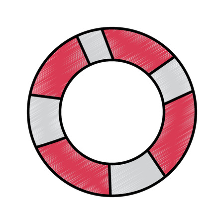lifebuoy protection equipment for swimming vector illustration drawing image