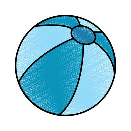 beach ball play activity plastic vector illustration drawing image