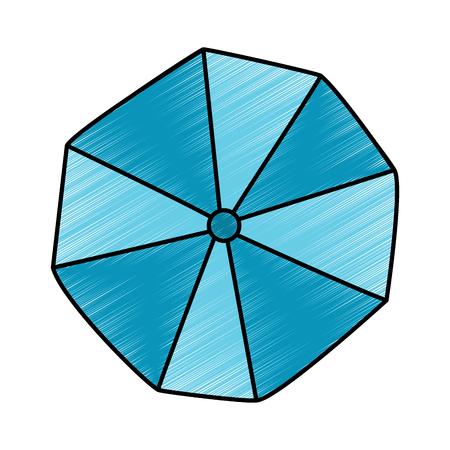 geopende strand paraplu bovenaanzicht vector illustratie tekening afbeelding