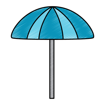 beach umbrella protection accessory symbol vector illustration drawing image Ilustrace
