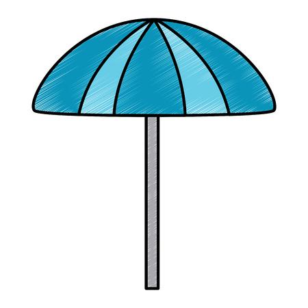 parasol bescherming accessoire symbool vector illustratie tekening afbeelding Stock Illustratie
