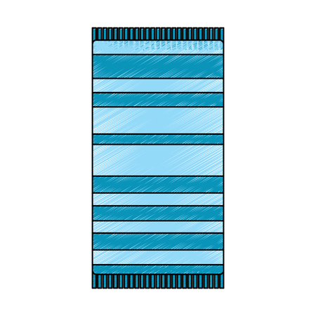 beach towel with stripes top view isolated on white background vector illustration drawing image