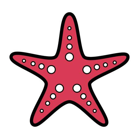 Starfish animal wildlife ocean tropical vector illustration
