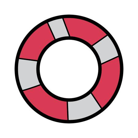Eine Schutzausrüstung für Schwimmen Vektor-Illustration Standard-Bild - 91579495