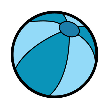 ビーチボール遊び活動プラスチックベクトルイラスト  イラスト・ベクター素材