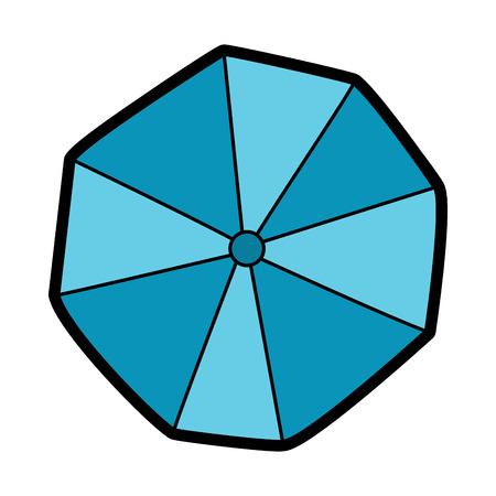 開かれたビーチ傘トップ ビュー ベクトル図
