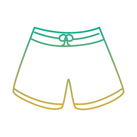 A male short swimsuit fashion clothes vector illustration