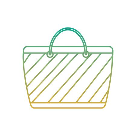 A cartoon striped beach bag accessory vector illustration