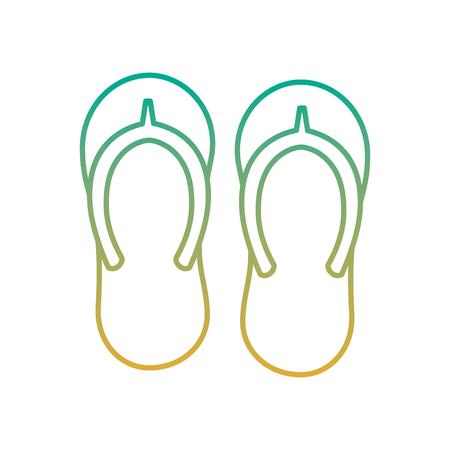A beach pair flip flops accessories icon vector illustration 일러스트