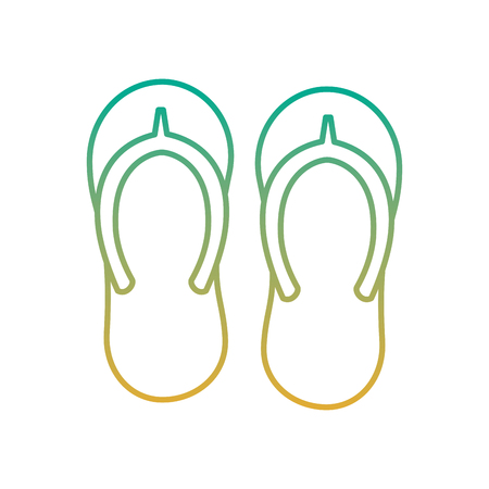 A beach pair flip flops accessories icon vector illustration Иллюстрация