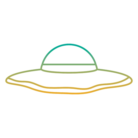 A beach hat fashion trendy accesory icon vector illustration