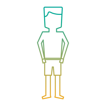 Standing man cartoon on swimwear  illustration Illusztráció