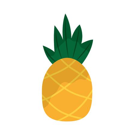 A pineapple tropical fruit health nutrition food vector illustration Illusztráció