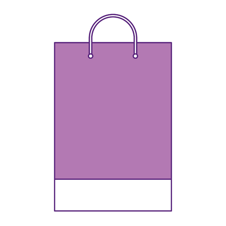 Shopping bag template sample business stationery blank vector illustration.