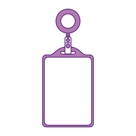 Identification card corporate office empty template vector illustration. Illustration