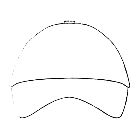 Promotional souvenir baseball cap identity corporate empty template vector illustration. Ilustração
