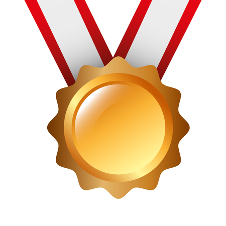 award medal ribbon winner sport vector illustration Иллюстрация
