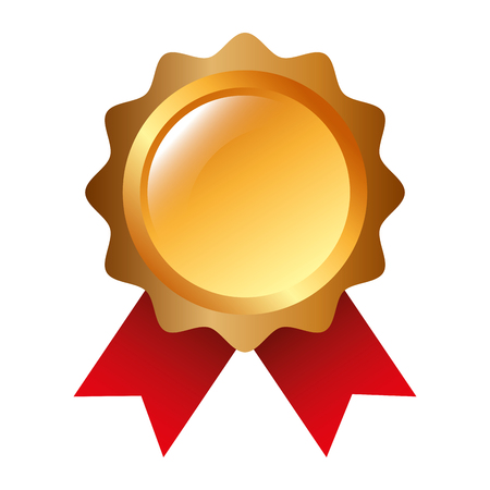 rosette award guarantee premium win icon vector illustration
