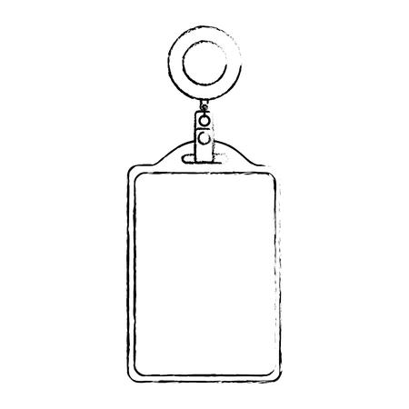 identificatiekaart hoofdkantoor lege sjabloon vectorillustratie Stock Illustratie