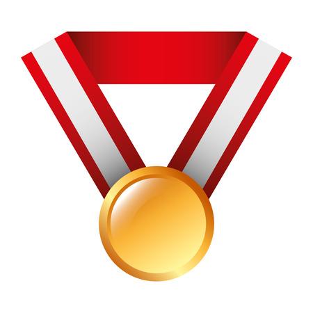 award medal ribbon winner sport vector illustration Illustration