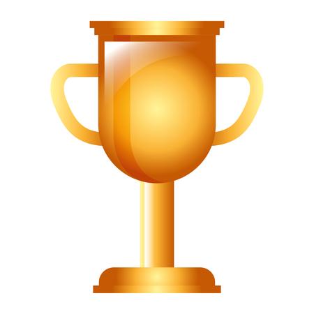 trophy cup award success competition vector illustration Illusztráció