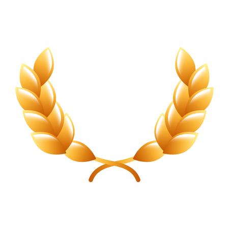 award winner wreath laurel icon vector illustration Illustration
