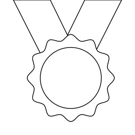 award medal ribbon winner sport vector illustration Illusztráció