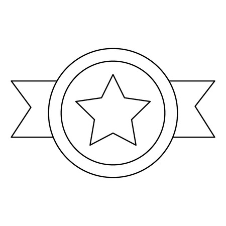 特典バッジ リボン スター 名誉ベクトルイラスト