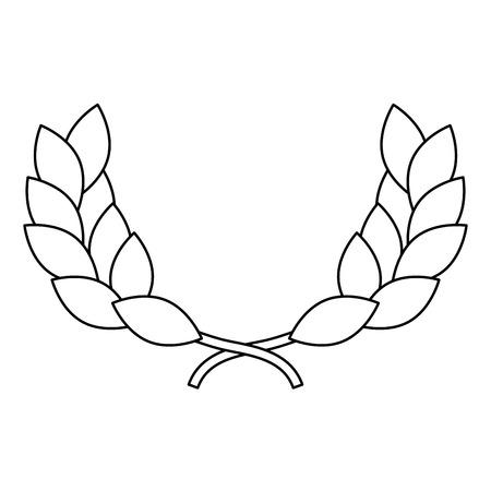award winner wreath laurel icon vector illustration Иллюстрация