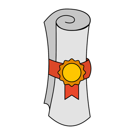 award of excellence with rosette and ribbon vector illustration