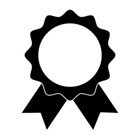Selo com fita emblema vector ilustração design Foto de archivo - 91840152