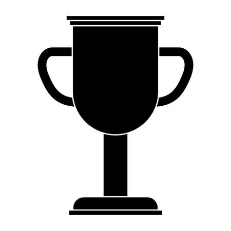 트로피 컵 우승자 아이콘 벡터 일러스트 디자인