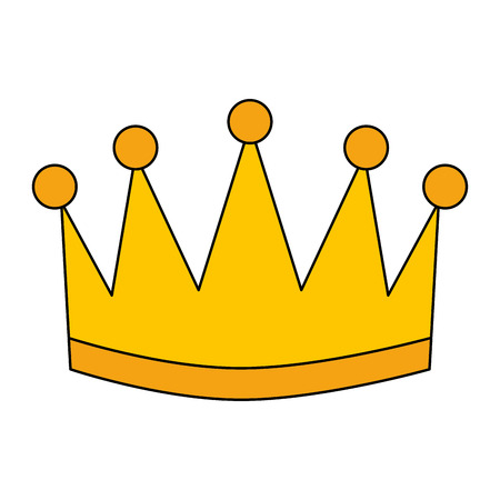 A winner crown isolated icon vector illustration design Ilustrace