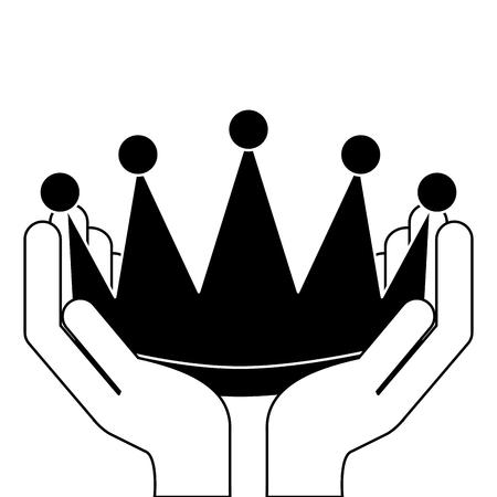 Coroa de vencedor isolado ícone vector ilustração design Foto de archivo - 91840655
