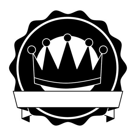 winner crown emblem icon vector illustration design