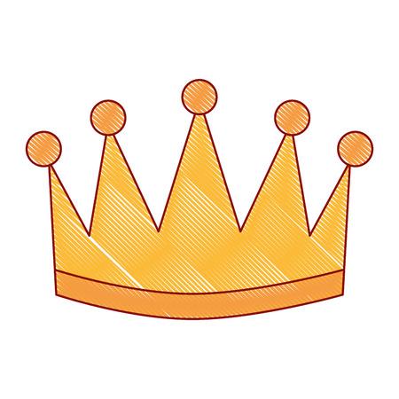 Ganador corona aislado icono vector ilustración diseño Foto de archivo - 91841147