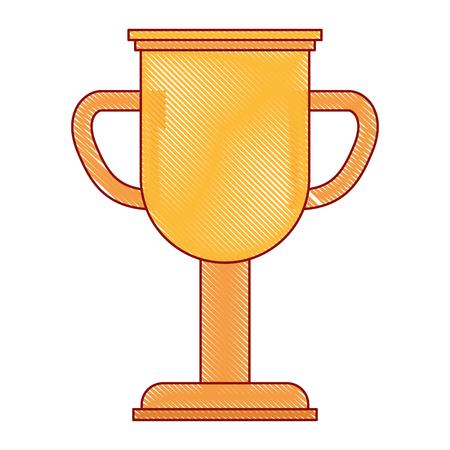 trophy cup winner icon vector illustration design Ilustração