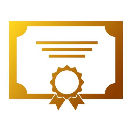 winner diploma with medal vector illustration design Çizim