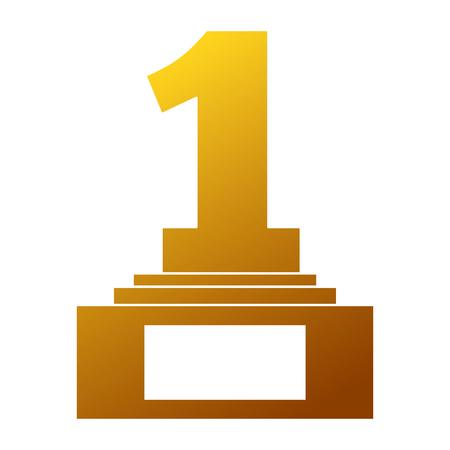 Nummer één trofee award illustratie. Stock Illustratie