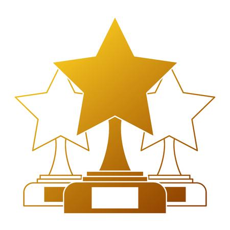 star trophies winner icon vector illustration design