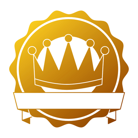 winner crown emblem icon vector illustration design