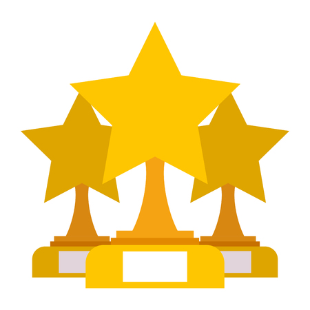 Star trophies winner icon illustration. Illustration
