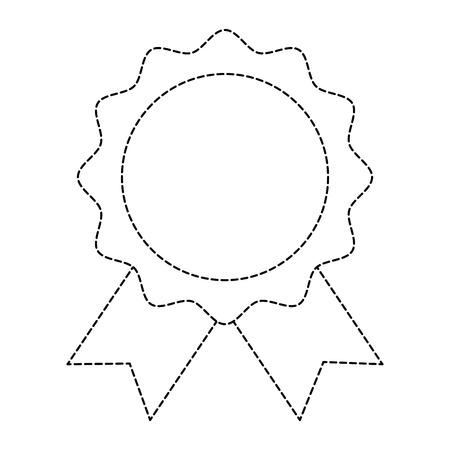 seal with ribbon emblem vector illustration design