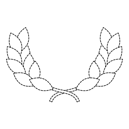 wreath leafs crown award vector illustration design